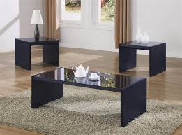 black glass coffee table. 3 Pcs Black Coffeetable Set Glass Coffee Table