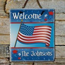 american flag personalized patriotic slate plaque the strength of slate and the pride of america