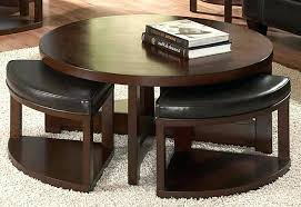 coffee table with 4 ottomans furniture of round coffee table with
