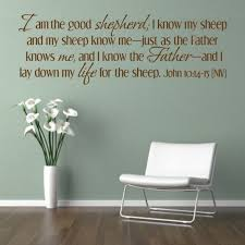 bible verse i am the good shepherd niv code 107 vinyl lettering quotesvinyl wall  on scripture vinyl lettering wall art with bible verse i am the good shepherd niv code 107 vinyl
