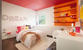 bedroom ideas for teenage girls red. Awesome Design Of The Teenage Room Decor With White Wall And Red Ceiling Ideas Added Bedroom For Girls