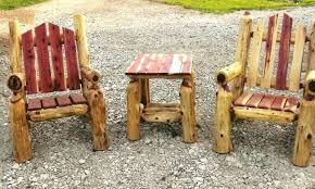 log furniture ideas. Attractive Log Patio Furniture Decorating Suggestion Outdoor Chair Lovable Remodel Ideas Cedar A Cottage Collection . Rustic E