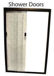 rv shower door glass or plastic