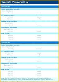 Password Spreadsheet Template Timetoreflect Co