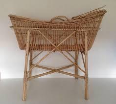 retro baby furniture. vintage babyu0027s moses basket crib cot wicker carry handles mattress retro baby furniture