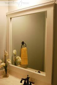 Diy Bathroom Mirror 17 Best Ideas About Diy Framed Mirrors On Pinterest Framed