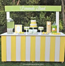 Lemonade Stand Bake Sale Party. We made simple items: popcorn, cupcakes,  store