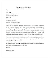 Writing A Recommendation Letter For An Employee Job Reference Letter Samples