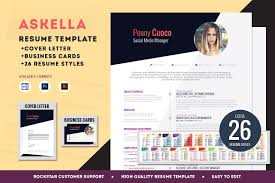 creative resume templates resume templates on creative market askella premium resume template