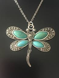boho dragonfly pendant necklace