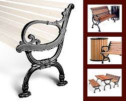 own cast iron and cast aluminum benches