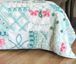 263 best Vintage Chenille Bedspreads Repurposed images on ... & chenille quilt Adamdwight.com