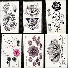 2453 руб 8 скидкахна цветок роза временная татуировка геометричное узкое прямое