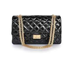 chanel outlet. chanel reissue 2.55 patent leather black gold chain engraved clamshell package medium|chanel outlet