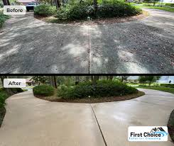 pre treating concrete before cleaning