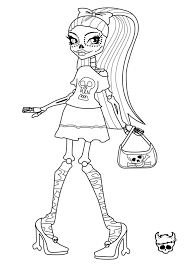 Small Picture Free Printable Monster High Coloring Pages For Kids With School
