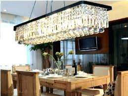 size of chandelier for dining table medium size of size of rectangular chandelier for dining table