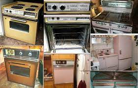 1950 60s stoves wall ovens and ge fridge
