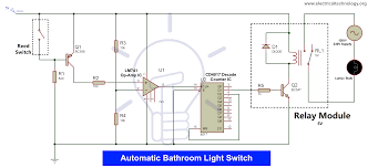 Automatic Light Operated Switch Using Ldr And Ic 741 Automatic Bathroom Light Switch Circuit Diagram And Operation