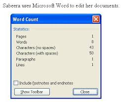 microsoft word sabeera kulkarni screen shot