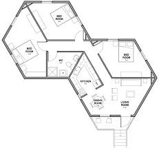 Hexagon Shaped House Plans  House PlanHexagon House Plans