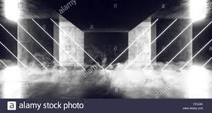 Cyber White Fog Lights Smoke Steam Fog Virtual Sci Fi Fluorescent Neon Cyber