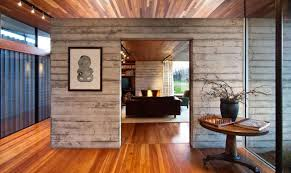 home track lighting. Modern House With Timber Interior Cladding And Track Lighting : For Your Home