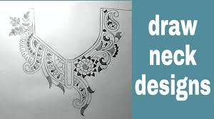 Saree Blouse Design Sketches Neck Designs Sketch For Embroidery By Pencil
