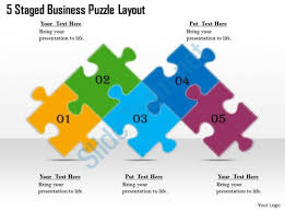 1813 Business Ppt Diagram 5 Staged Business Puzzle Layout Powerpoint