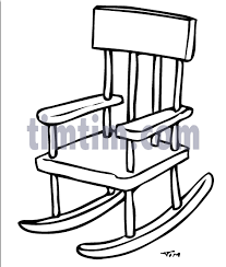 rocking chair drawing. Contemporary Drawing Free Drawing Of Rocking Chair BW2 From The Category Building Home Tools   TimTimcom And Drawing O