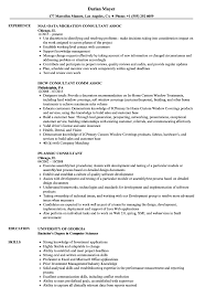 Assoc Consultant Resume Samples Velvet Jobs