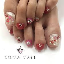 バレンタインフットハート雪の結晶ミディアム Lunanail133162の
