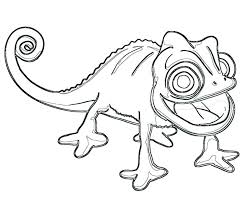 Pascal From Tangled Coloring Pages The Chameleon Page Chronicles