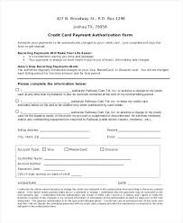 Recurring Payment Authorization Form Template Sample Direct Deposit ...