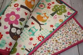 161 best Handmade baby quilts images on Pinterest | Arrows, Baby ... & Baby girl quilt, owl baby quilt, modern baby quilt, handmade soft designer  baby Adamdwight.com