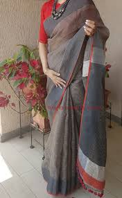 Designer Sarees Facebook Linen Saree Available On Facebook Page Weaves Hues By