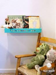 my very educated mother  diy floating bookshelf over at walnut hollow blog it s perfect for toddlers s books so that