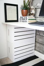desk made from wooden crates