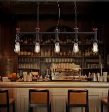 vintage style light fixtures retro loft water pipe lamp edison pendant industrial lighting for dining room