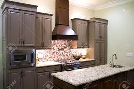 Kitchen Cabinets Granite Countertops New Modern Luxury Kitchen Cabinets With Gas Stove And Granite