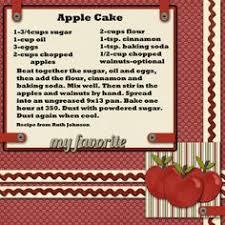apple cake recipe by sincin 2peasinabucket sbook pages recipe sbook sbook layouts