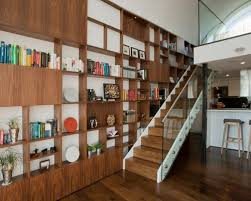 Example of a trendy wooden straight staircase design in London