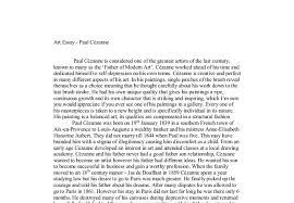 art essay paul cezanne a level art design marked by  document image preview