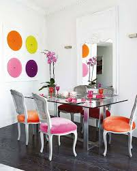 25 trendy bright and colorful dining area