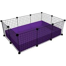 small 2x3 grid c c cage for guinea pigs made by cagetopia