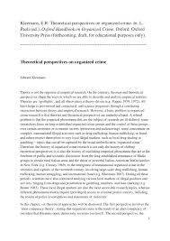 theoretical perspectives on organized crime pdf available