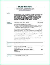 How To Write A Student Resume Enchanting How To Write A Student Resume Fresh Writing Swarnimabharathorg