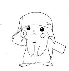 Pikachu Coloring Color S Mega Coloring S Ash And Jokingartcom