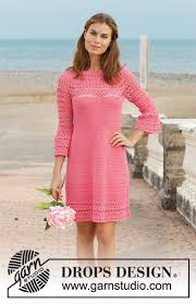 Free Crochet Dress Patterns Gorgeous Primrose Dress DROPS 4848 Free Crochet Patterns By DROPS Design