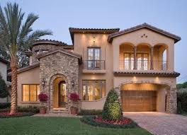 Mediterranean style houses evoke homes in southern Spain, France, and  Italy. They typically focus on patios, courtyards and verandas as ways to  extend the ...